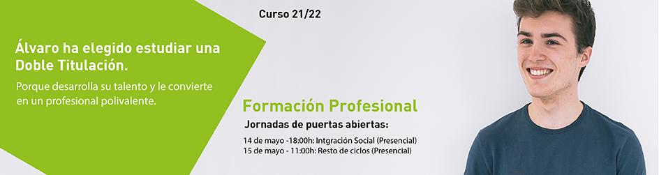 Jornada de puertas abiertas - Formación Profesional 21-22