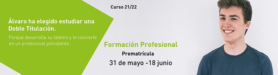 Prematrícula Formación Profesional 21-22